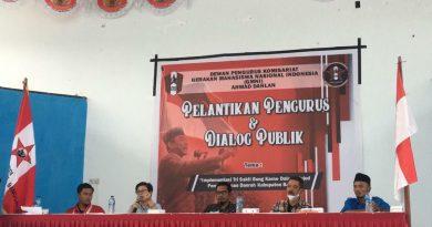DPK GMNI Ahmad Dahlan Gelar Pelantikan Dan Dialog Publik