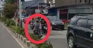 Viral, Seorang Nenek Berkendara Melawan Arah Di Jalan Protokol Nunukan